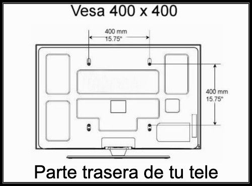 Soporte VESA TV Samsung UE50KU6000KXXC